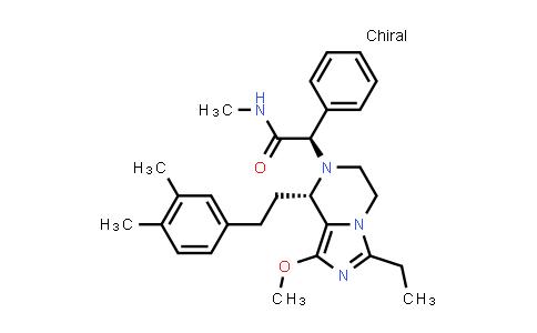 1036401-98-5   Imidazo[1,5-a]pyrazine-7(8H)-acetamide, 8-[2-(3,4-dimethylphenyl)ethyl]-3-ethyl-5,6-dihydro-1-methoxy-N-methyl-α-phenyl-, (αR,8S)-