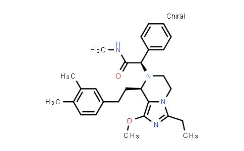 1036401-99-6   Imidazo[1,5-a]pyrazine-7(8H)-acetamide, 8-[2-(3,4-dimethylphenyl)ethyl]-3-ethyl-5,6-dihydro-1-methoxy-N-methyl-α-phenyl-, (αR,8R)-