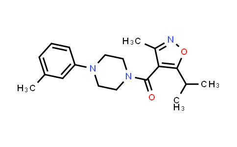 1036686-42-6 | Methanone, [3-methyl-5-(1-methylethyl)-4-isoxazolyl][4-(3-methylphenyl)-1-piperazinyl]-