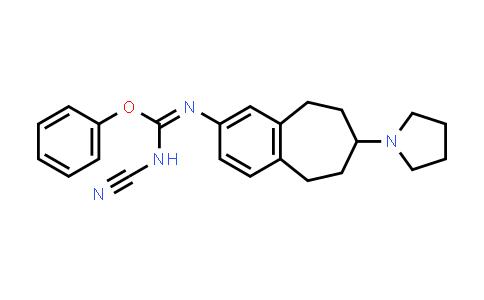 1037627-95-4   Carbamimidic acid, N-cyano-N'-[6,7,8,9-tetrahydro-7-(1-pyrrolidinyl)-5H-benzocyclohepten-2-yl]-, phenyl ester