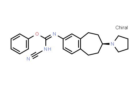 1037627-96-5   Carbamimidic acid, N-cyano-N'-[(7S)-6,7,8,9-tetrahydro-7-(1-pyrrolidinyl)-5H-benzocyclohepten-2-yl]-, phenyl ester