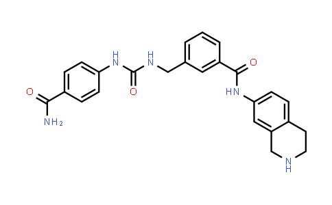 1038549-25-5 | Benzamide, 3-[[[[[4-(aminocarbonyl)phenyl]amino]carbonyl]amino]methyl]-N-(1,2,3,4-tetrahydro-7-isoquinolinyl)-