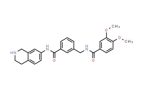 1038549-82-4 | Benzamide, 3,4-dimethoxy-N-[[3-[[(1,2,3,4-tetrahydro-7-isoquinolinyl)amino]carbonyl]phenyl]methyl]-