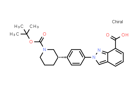 1038916-08-3 | (S)-2-(4-(1-(tert-Butoxycarbonyl)piperidin-3-yl)phenyl)-2H-indazole-7-carboxylic acid