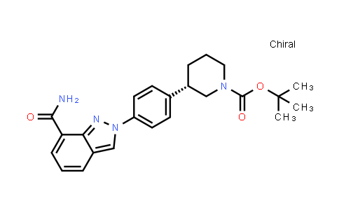 1038916-11-8 | tert-Butyl (S)-3-(4-(7-carbamoyl-2H-indazol-2-yl)phenyl)piperidine-1-carboxylate