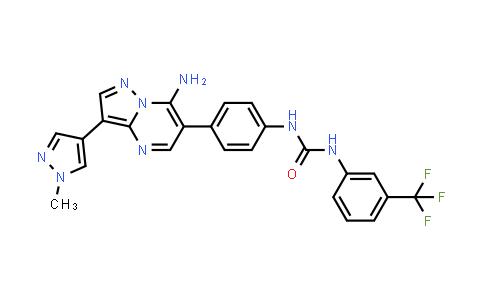 1039365-23-5 | Urea, N-[4-[7-amino-3-(1-methyl-1H-pyrazol-4-yl)pyrazolo[1,5-a]pyrimidin-6-yl]phenyl]-N'-[3-(trifluoromethyl)phenyl]-