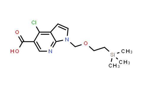 1039740-71-0 | 4-Chloro-1-((2-(trimethylsilyl)ethoxy)methyl)-1H-pyrrolo[2,3-b]pyridine-5-carboxylic acid