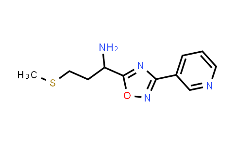 1039815-72-9 | 3-(Methylthio)-1-(3-(pyridin-3-yl)-1,2,4-oxadiazol-5-yl)propan-1-amine
