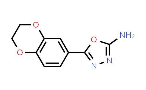 1039933-90-8 | 5-(2,3-dihydro-1,4-benzodioxin-6-yl)-1,3,4-oxadiazol-2-amine
