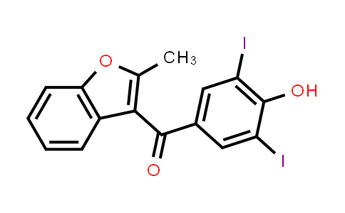 10402-56-9 | 3-(3,5-DIIODO-4-HYDROXYBENZOYL)-2-METHYL-BENZOFURAN