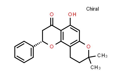 104055-79-0   4H,8H-Benzo[1,2-b:3,4-b']dipyran-4-one, 2,3,9,10-tetrahydro-5-hydroxy-8,8-dimethyl-2-phenyl-, (S)-