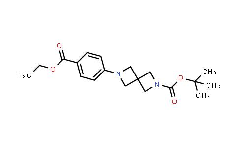 1041027-21-7 | 2,6-Diazaspiro[3.3]heptane-2-carboxylic acid, 6-[4-(ethoxycarbonyl)phenyl]-, 1,1-dimethylethyl ester