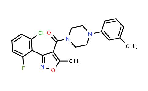 1043254-36-9 | Methanone, [3-(2-chloro-6-fluorophenyl)-5-methyl-4-isoxazolyl][4-(3-methylphenyl)-1-piperazinyl]-