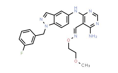1044506-82-2 | 5-Pyrimidinecarboxaldehyde, 4-amino-6-[[1-[(3-fluorophenyl)methyl]-1H-indazol-5-yl]amino]-, O-(2-methoxyethyl)oxime