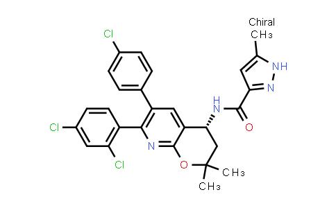 1044586-68-6   1H-Pyrazole-3-carboxamide, N-[(4R)-6-(4-chlorophenyl)-7-(2,4-dichlorophenyl)-3,4-dihydro-2,2-dimethyl-2H-pyrano[2,3-b]pyridin-4-yl]-5-methyl-