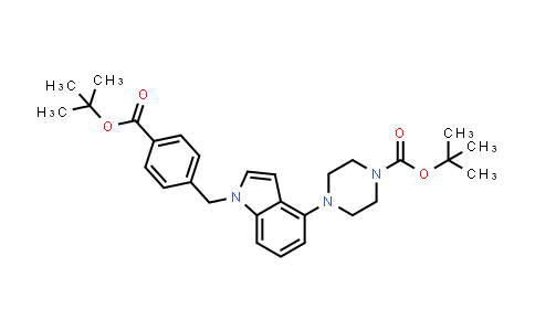 1044764-11-5 | tert-Butyl 4-(1-(4-(tert-butoxycarbonyl)benzyl)-1H-indol-4-yl)piperazine-1-carboxylate
