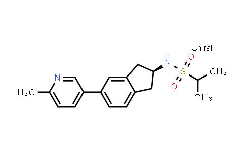 1045805-41-1   2-Propanesulfonamide, N-[(2S)-2,3-dihydro-5-(6-methyl-3-pyridinyl)-1H-inden-2-yl]-