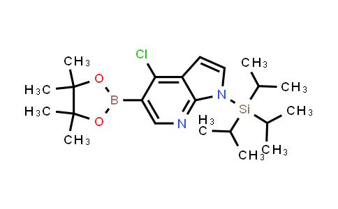1045857-94-0 | 4-chloro-5-(4,4,5,5-tetramethyl-1,3,2-dioxaborolan-2-yl)-1-(triisopropylsilyl)-1H-pyrrolo[2,3-b]pyridine
