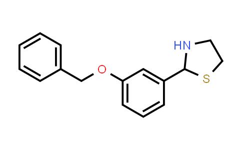 1046696-30-3 | 2-[3-(Benzyloxy)phenyl]-1,3-thiazolidine