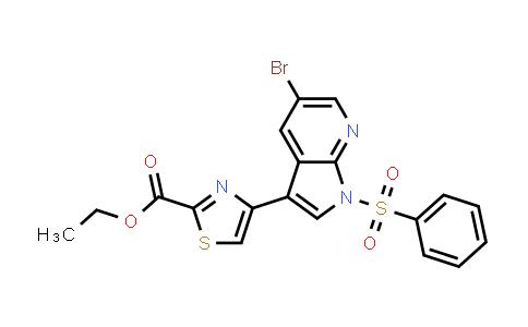 1046793-41-2 | 2-Thiazolecarboxylic acid, 4-[5-bromo-1-(phenylsulfonyl)-1H-pyrrolo[2,3-b]pyridin-3-yl]-, ethyl ester