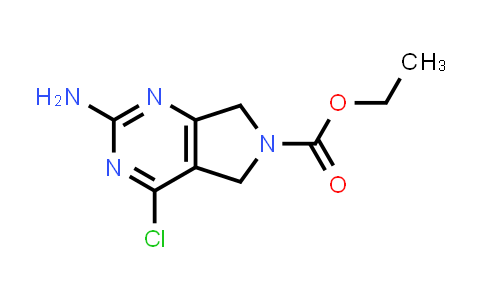 1046861-17-9 | Ethyl 2-amino-4-chloro-5,7-dihydro-6H-pyrrolo[3,4-d]pyrimidine-6-carboxylate