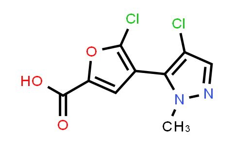 1047629-15-1 | 5-Chloro-4-(4-chloro-1-methyl-1H-pyrazol-5-yl)furan-2-carboxylic acid