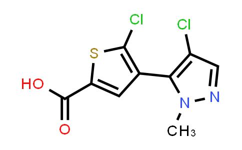 1047630-61-4 | 5-Chloro-4-(4-chloro-1-methyl-1H-pyrazol-5-yl)thiophene-2-carboxylic acid