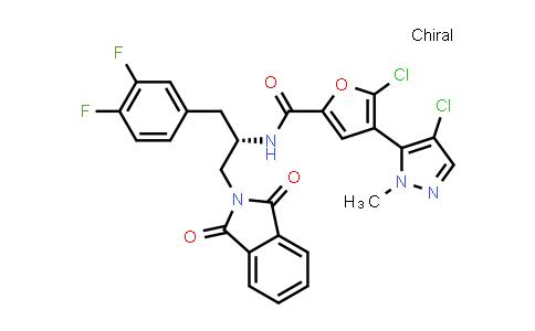1047635-79-9 | 2-Furancarboxamide, 5-chloro-4-(4-chloro-1-methyl-1H-pyrazol-5-yl)-N-[(1S)-1-[(3,4-difluorophenyl)methyl]-2-(1,3-dihydro-1,3-dioxo-2H-isoindol-2-yl)ethyl]-