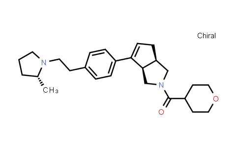 1048964-40-4   Methanone, [(3aR,6aR)-3,3a,4,6a-tetrahydro-6-[4-[2-[(2R)-2-methyl-1-pyrrolidinyl]ethyl]phenyl]cyclopenta[c]pyrrol-2(1H)-yl](tetrahydro-2H-pyran-4-yl)-