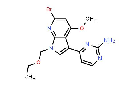 1048966-67-1   2-Pyrimidinamine, 4-[6-bromo-1-(ethoxymethyl)-4-methoxy-1H-pyrrolo[2,3-b]pyridin-3-yl]-