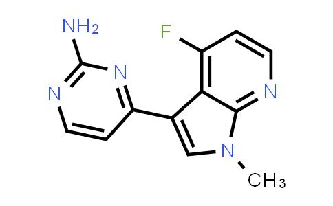 1048967-52-7   2-Pyrimidinamine, 4-(4-fluoro-1-methyl-1H-pyrrolo[2,3-b]pyridin-3-yl)-