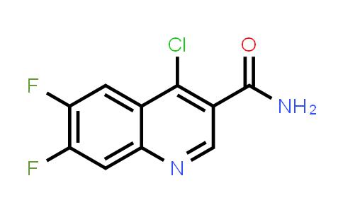 1049677-60-2 | 4-Chloro-6,7-difluoroquinoline-3-carboxamide
