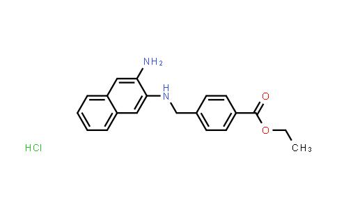1049720-51-5 | Ethyl 4-(((3-aminonaphthalen-2-yl)amino)methyl)benzoate hydrochloride