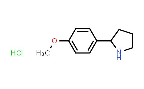 1049740-97-7   2-(4-Methoxyphenyl)pyrrolidine hydrochloride