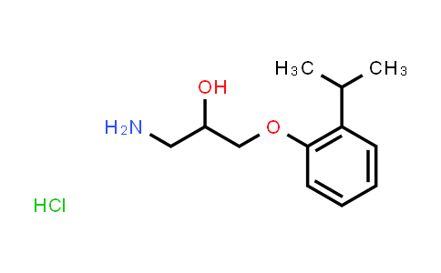 1049784-71-5   1-Amino-3-(2-isopropylphenoxy)propan-2-ol hydrochloride