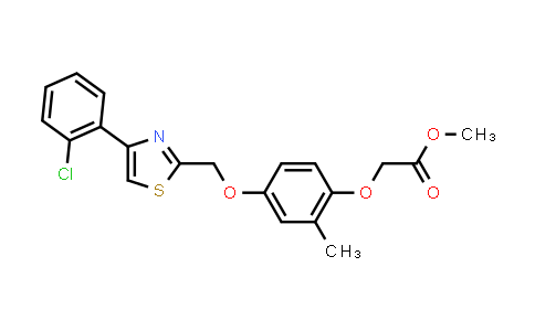 1050507-17-9 | Acetic acid, 2-[4-[[4-(2-chlorophenyl)-2-thiazolyl]methoxy]-2-methylphenoxy]-, methyl ester
