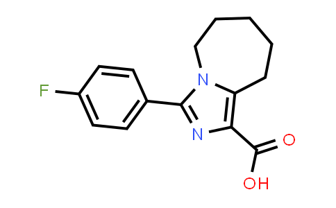 1050886-00-4   3-(4-Fluorophenyl)-5H,6H,7H,8H,9H-imidazo[1,5-a]azepine-1-carboxylic acid
