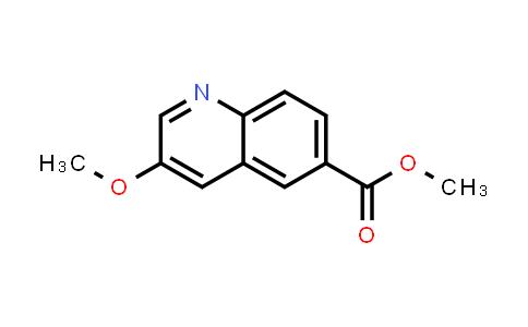 1051316-27-8 | 6-Quinolinecarboxylic acid, 3-methoxy-, methyl ester