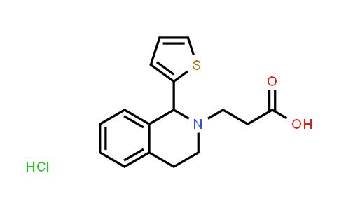 1052538-07-4 | 3-[1-(2-Thienyl)-3,4-dihydroisoquinolin-2(1H)-yl]propanoic acid hydrochloride