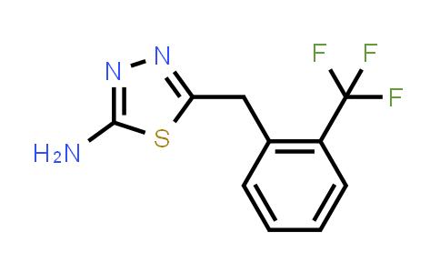 1052694-84-4   5-[[2-(Trifluoromethyl)phenyl]methyl]-1,3,4-thiadiazol-2-amine