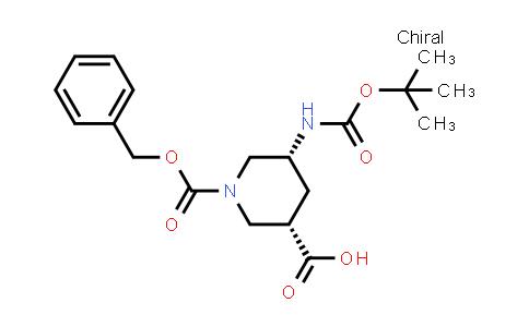 1052713-85-5 | cis-1-[(Benzyloxy)carbonyl]-5-{[(tert-butoxy)carbonyl]amino}piperidine-3-carboxylic acid