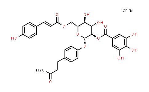 105274-16-6 | 2-Butanone, 4-[4-[[6-O-[(2E)-3-(4-hydroxyphenyl)-1-oxo-2-propen-1-yl]-2-O-(3,4,5-trihydroxybenzoyl)-β-D-glucopyranosyl]oxy]phenyl]-
