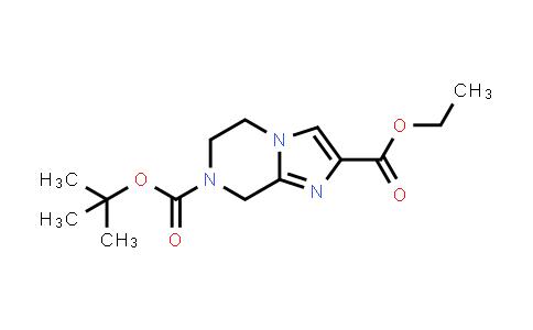 1053656-22-6   7-tert-Butyl 2-ethyl 5,6-dihydroimidazo[1,2-a]pyrazine-2,7(8H)-dicarboxylate