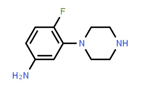 105377-03-5 | 4-Fluoro-3-(piperazin-1-yl)aniline