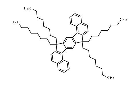 1054613-95-4   7,7,15,15-Tetraoctyl-7,15-dihydrobenzo[g]benzo[6,7]indeno[1,2-b]fluorene