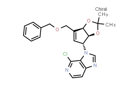 105522-24-5 | 3-((3aS,4R,6aR)-6-(benzyloxymethyl)-2,2-dimethyl-4,6a-dihydro-3aH-cyclopenta[d][1,3]dioxol-4-yl)-4-chloro-3H-imidazo[4,5-c]pyridine