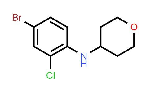 1056465-04-3 | N-(4-Bromo-2-chlorophenyl)tetrahydro-2H-pyran-4-amine