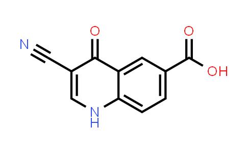 1056941-85-5   6-Quinolinecarboxylic acid, 3-cyano-1,4-dihydro-4-oxo-