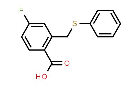 1057218-85-5 | 4-Fluoro-2-((phenylthio)methyl)benzoic acid