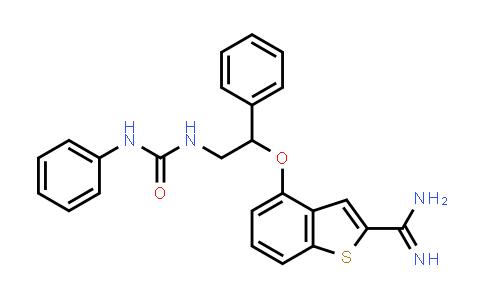 1057337-39-9   4-(1-phenyl-2-(3-phenylureido)ethoxy)benzo[b]thiophene-2-carboximidamide